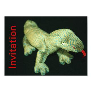 Carte d'invitation de jouet bourrée par lézard carton d'invitation  12,7 cm x 17,78 cm