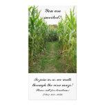 Carte d'invitation de labyrinthe de maïs photocartes