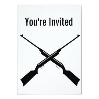Carte d'invitation de partie de fusil de chasse de