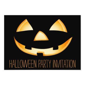 Carte d'invitation de partie de Halloween de Carton D'invitation 12,7 Cm X 17,78 Cm