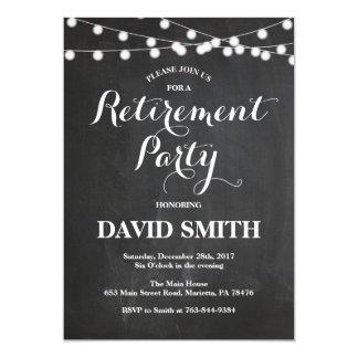 Carte d'invitation de partie de retraite de carton d'invitation  12,7 cm x 17,78 cm