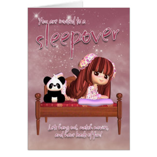 Carte d'invitation de Sleepover