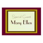 Carte d'invité spécial de célébration modèle de carte de visite