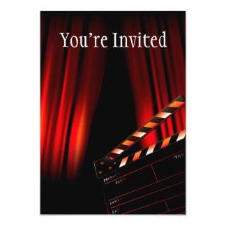 Carte Directeur rouge de bardeau de rideau en film