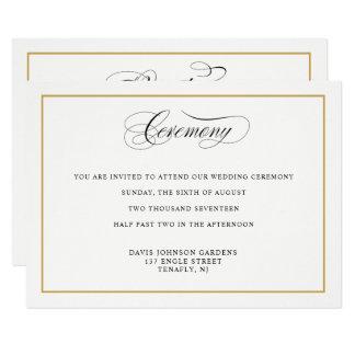 Carte Directions élégantes de cérémonie d'or de