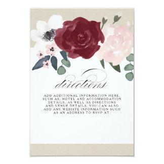 Carte Directions florales romantiques