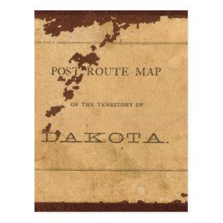 Carte d'itinéraire de courrier de territoire du