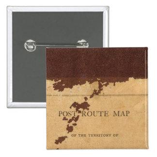 Carte d'itinéraire de courrier de territoire du Da Badge