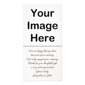 Carte Do-it-yourself - Insertion de photo de Merci de