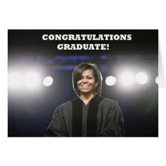 Carte d'Obama-Obtention du diplôme de Michelle