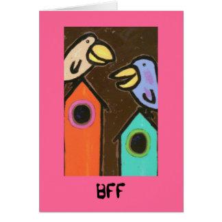 Carte d'oiseau de BFF