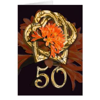 Carte d'or de félicitations d'anniversaire