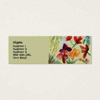Carte d'or de profil d'orchidée