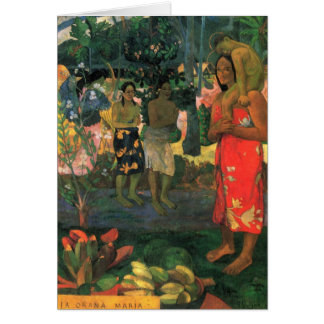 """Carte d'Orana Maria"""" - Paul Gauguin """"de La"""