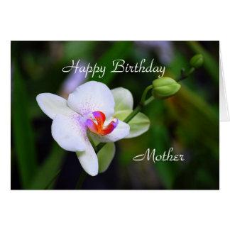 Carte d'orchidée de Phalaenopsis de mère de joyeux