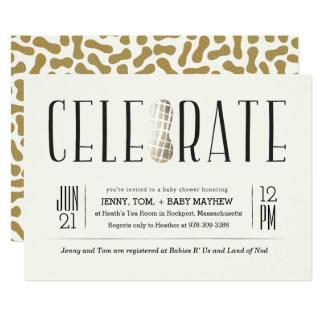 Carte Doré célébrez l'invitation de baby shower