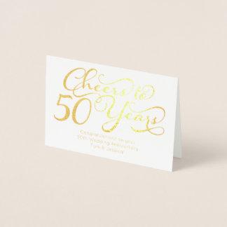 Carte Dorée Acclamations à 50 ans de cinquantième anniversaire