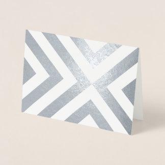 Carte Dorée Aluminium argenté et chevrons blancs