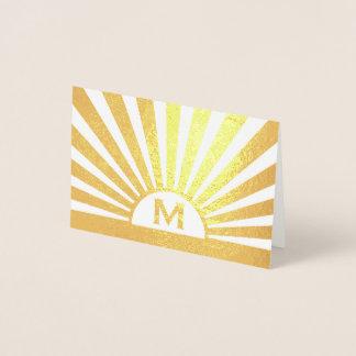 Carte Dorée Aluminium de style d'art déco vrai de monogramme