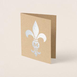 Carte Dorée Aluminium minimaliste élégant de Fleur De Lis