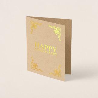 Carte Dorée Anniversaire heureux