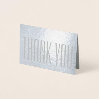 Carte Dorée Argent minimaliste moderne simple de Merci vrai