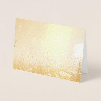 Carte Dorée Avoine au soleil