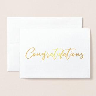 Carte Dorée Belle félicitation chic de calligraphie