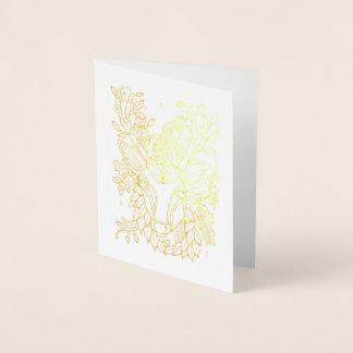 Carte Dorée Cerfs communs fantastiques de forêt