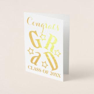 Carte Dorée Classe d'or de diplômé d'étoile de diplômé de
