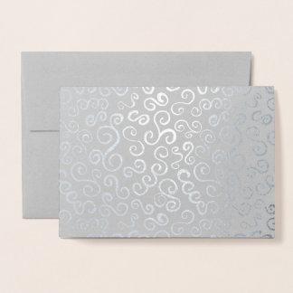 Carte Dorée Courbes d'aluminium argenté sur le gris
