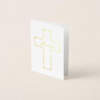Carte Dorée Croix