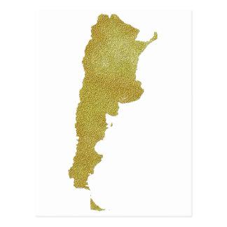 Carte dorée de l'Argentine - Argentine Dorada Cartes Postales