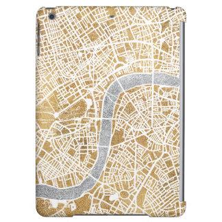 Carte dorée de ville de Londres