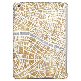 Carte dorée de ville de Paris