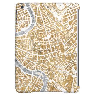 Carte dorée de ville de Rome