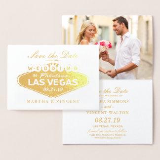 Carte Dorée Économies de mariage de signe de Las Vegas de