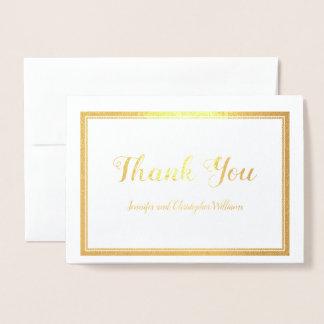Carte Dorée Élégance moderne simple de Merci de mariage d'or