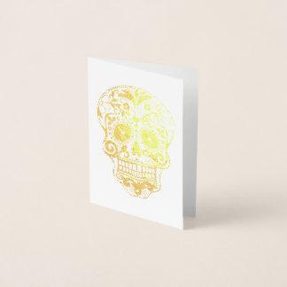 Carte Dorée Jour de l'or mort de crâne de sucre