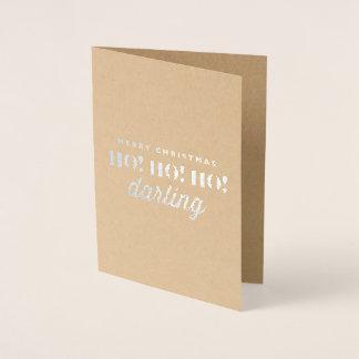 Carte Dorée Joyeux Noël Ho ! Ho ! Ho ! Chouchou