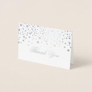 Carte Dorée L'aluminium argenté de confettis pointille le