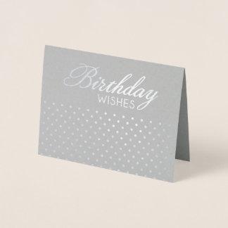 Carte Dorée L'anniversaire de Polkadot d'aluminium souhaite la
