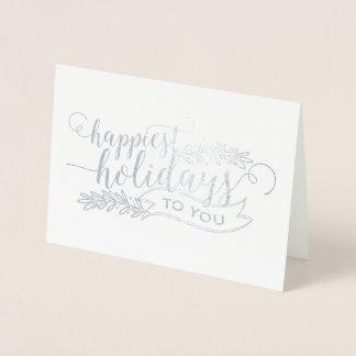Carte Dorée Les vacances les plus heureuses d'aluminium à vous