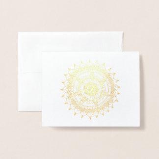 Carte Dorée Mandala d'aluminium de vacances