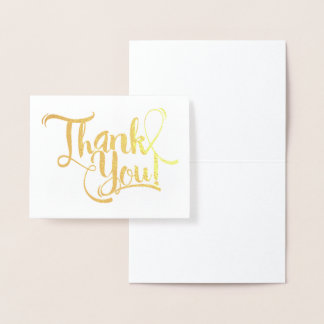 Carte Dorée Merci de feuille d'or