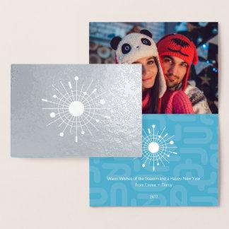 Carte Dorée Mod moderne de Noël d'aluminium argenté de la