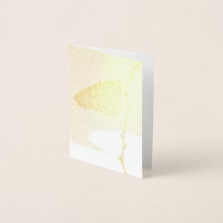 Carte Dorée Monarque dans la lumière de matin