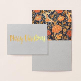 Carte Dorée Motif floral de Nouveau d'art de William Morris