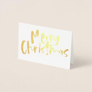 Carte Dorée Noël doré
