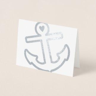 Carte Dorée Papeterie d'ancre de coeur